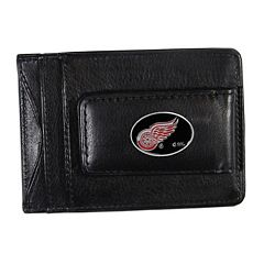 Detroit Red Wings Black Leather Cash & Card Holder