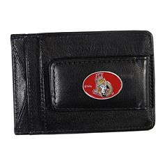 Ottawa Senators Black Leather Cash & Card Holder