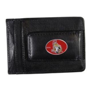 Ottawa Senators Black Leather Cash & Card Holder