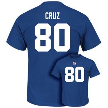 Men's Majestic New York Giants Victor Cruz Eligible Receiver Tee