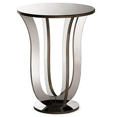Baxton Studio Kylie Mirrored Accent End Table