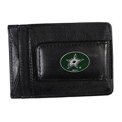 Dallas Stars Black Leather Cash & Card Holder