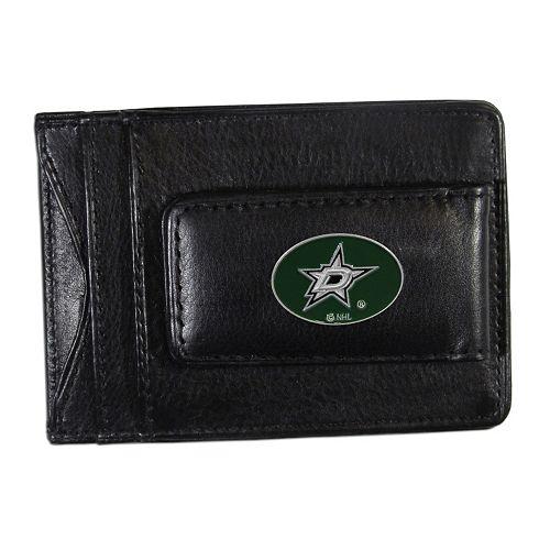 Dallas Stars Black Leather Cash & Card Holder