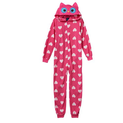 Girls 4-16 Jellifish Character One-Piece Pajamas