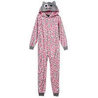 Girls 4-16 Jellifish Character One-Piece Pajamas