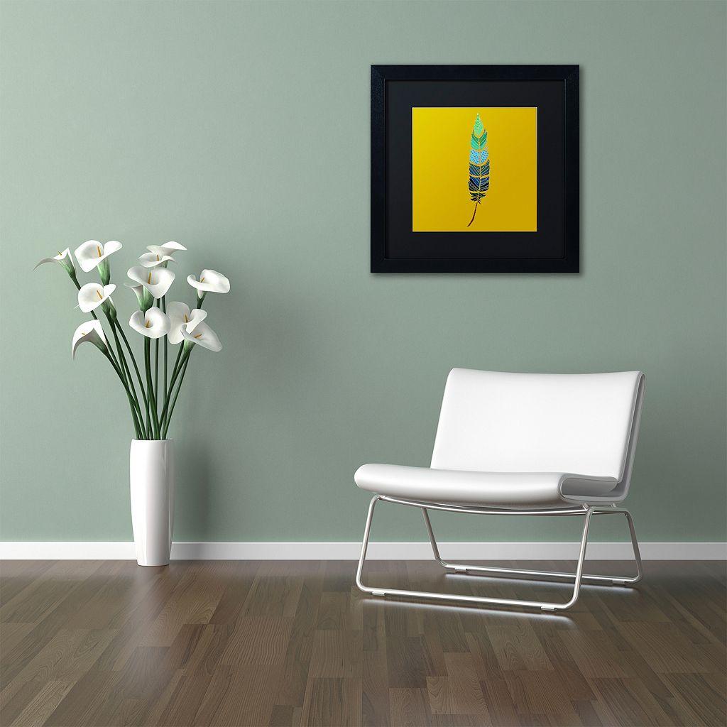 Trademark Fine Art Plume 2 Framed Wall Art