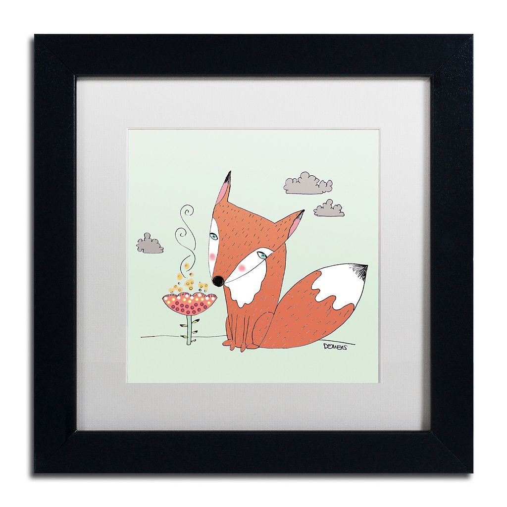 Trademark Fine Art Un Renard Dans La Cours Framed Wall Art