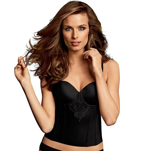 Maidenform Shapewear Ultra Firm Control Lace Bustier DM1022