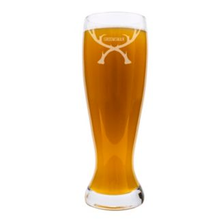 "Cathy's Concepts 54-oz.  ""Groomsman"" Antlers XL Pilsner Glass"