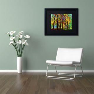 Trademark Fine Art Standing Room Only Black Framed Wall Art