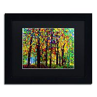 Trademark Fine Art Standing Room Only Black Framed Wall Art