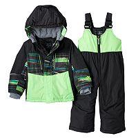 Toddler Boy ZeroXposur Blake Colorblock Jacket & Bib Snow Pants Snowsuit Set