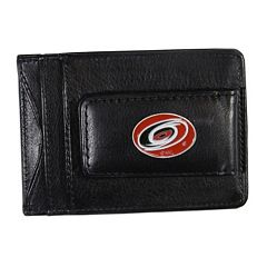 Carolina Hurricanes Black Leather Cash & Card Holder