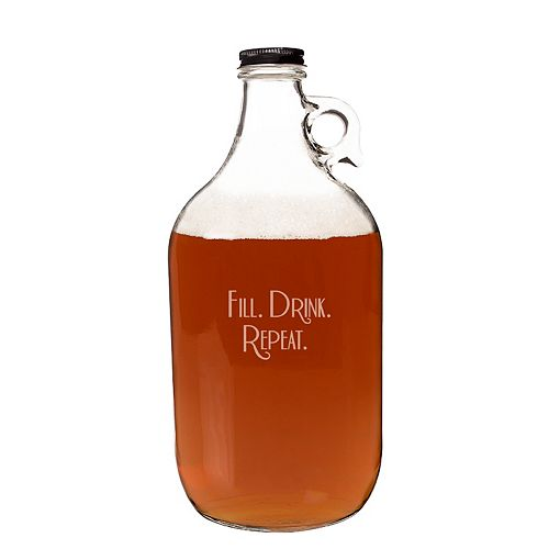 "Cathy's Concepts ""Fill. Drink. Repeat"" 64-oz. Craft Beer Growler"