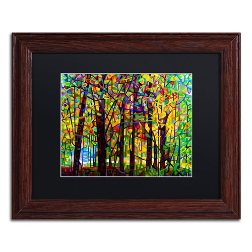 Trademark Fine Art Standing Room Only Wood Finish Framed Wall Art