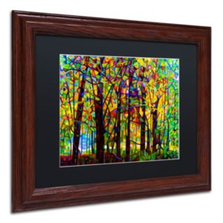 Trademark Fine Art Standing Room Only Wood Finish Framed Wall Art
