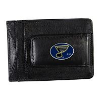 St. Louis Blues Black Leather Cash & Card Holder