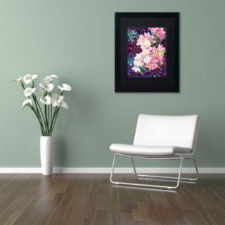 Trademark Fine Art Cascade Black Framed Wall Art