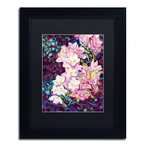 Trademark Fine Art Cascade Black Framed Wall Art