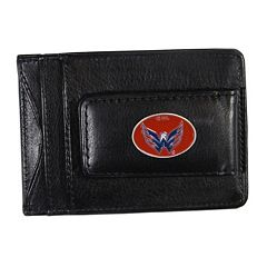 Washington Capitals Black Leather Cash & Card Holder