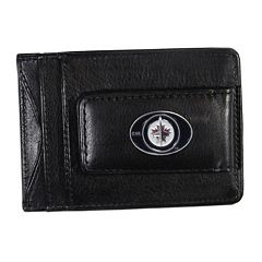 Winnipeg Jets Black Leather Cash & Card Holder