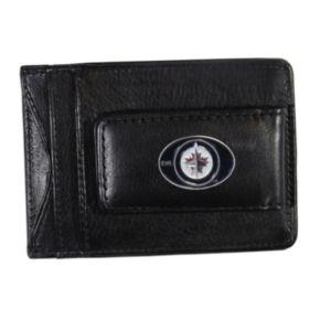 Winnipeg Jets Black Leather Cash & Card Holder