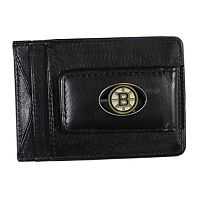 Boston Bruins Black Leather Cash & Card Holder