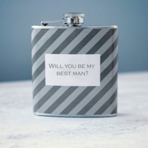 """Cathy's Concepts """"Will You Be My Best Man?"""" 6-oz. Flask"""