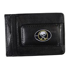 Buffalo Sabres Black Leather Cash & Card Holder