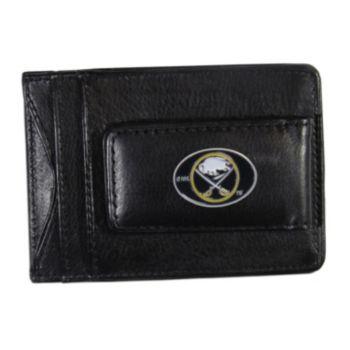 Buffalo Sabres Black Leather Cash & Card Holder