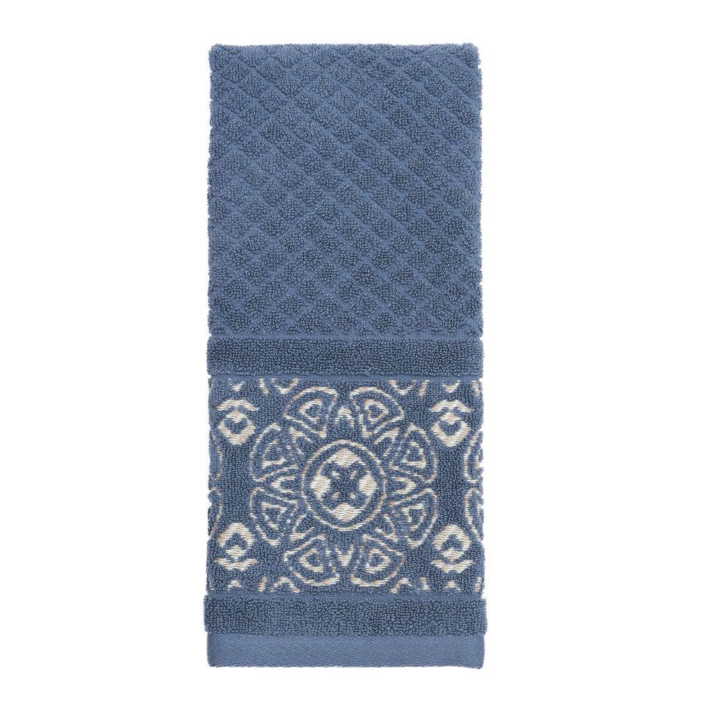 Karma Blue Sculpted Hand Towel