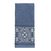 Karma Blue Sculpted Hand Towel