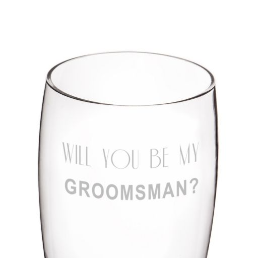 "Cathy's Concepts 54-oz. ""Will You Be My Groomsman?"" XL Pilsner Glass"