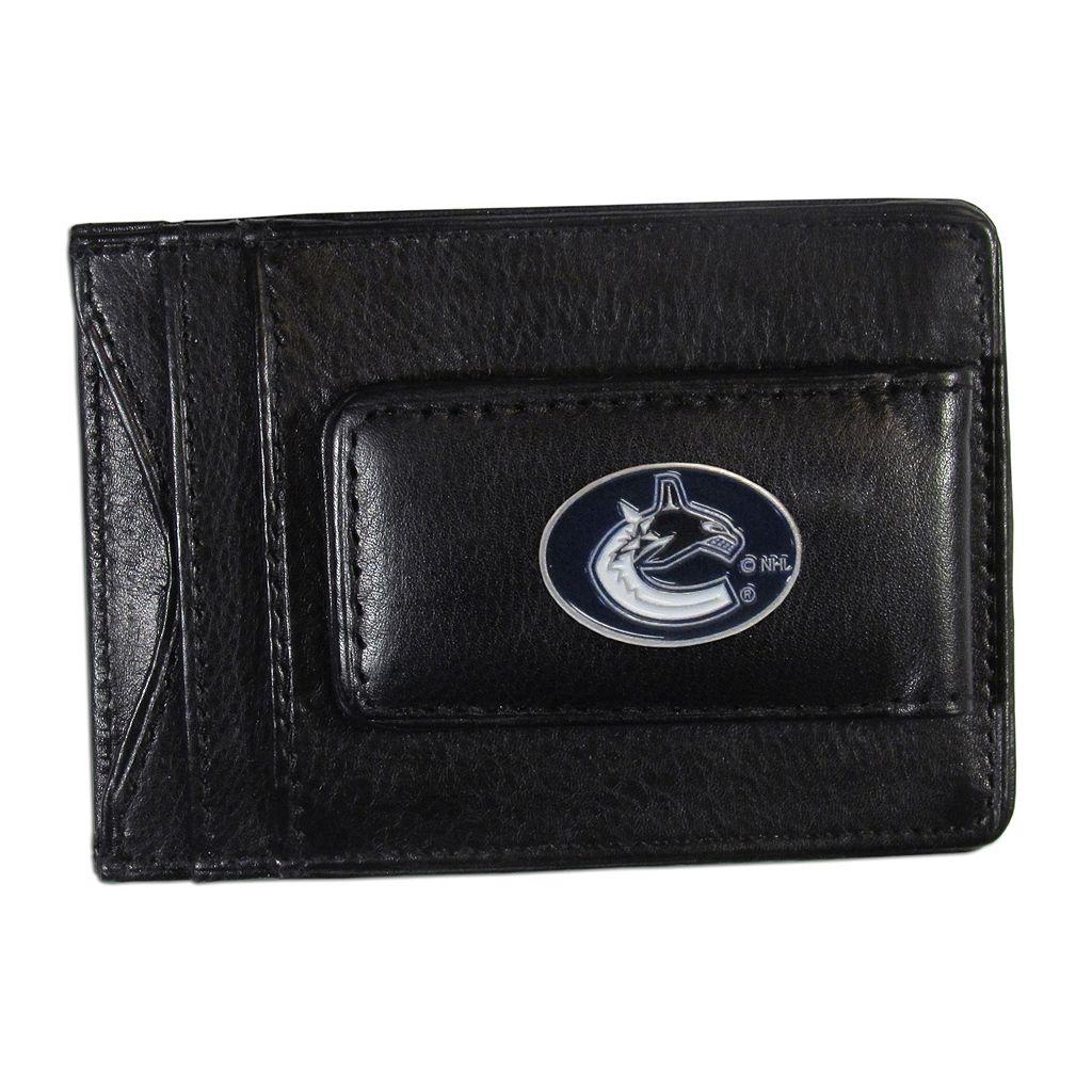 Vancouver Canucks Black Leather Cash & Card Holder