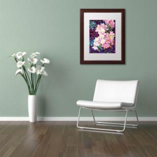 Trademark Fine Art Cascade Wood Finish Framed Wall Art