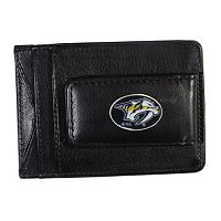 Nashville Predators Black Leather Cash & Card Holder