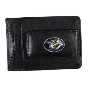 Nashville Predators Black Leather Cash & Card Holder