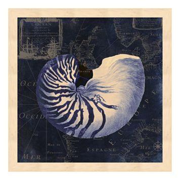 Metaverse Art Maritime Blues V Framed Wall Art