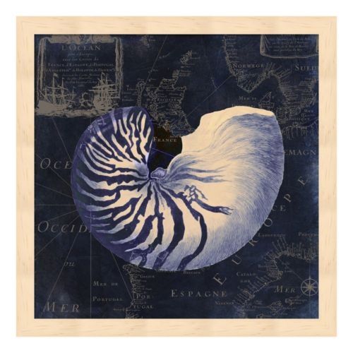 Metaverse Art Maritime Blues V Framed Wall Art