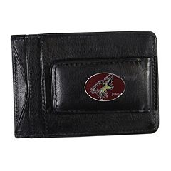 Arizona Coyotes Black Leather Cash & Card Holder