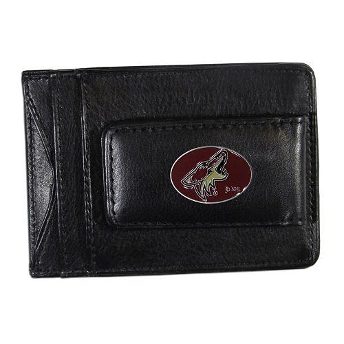 Arizona Coyotes Black Leather Cash & Card Holder