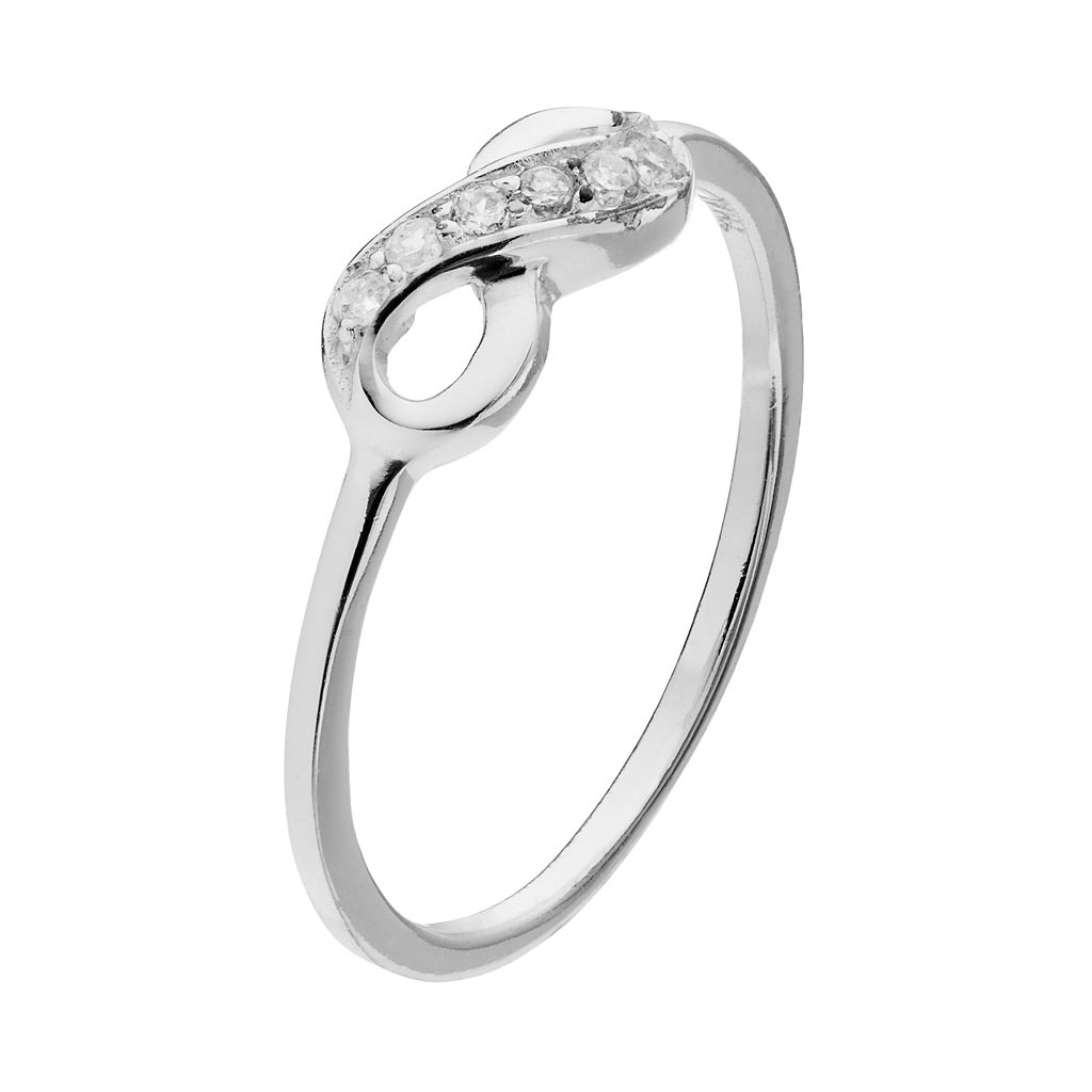 PRIMROSE Sterling Silver Cubic Zirconia Infinity Ring