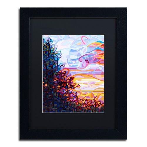 Trademark Fine Art Crescendo Black Framed Wall Art