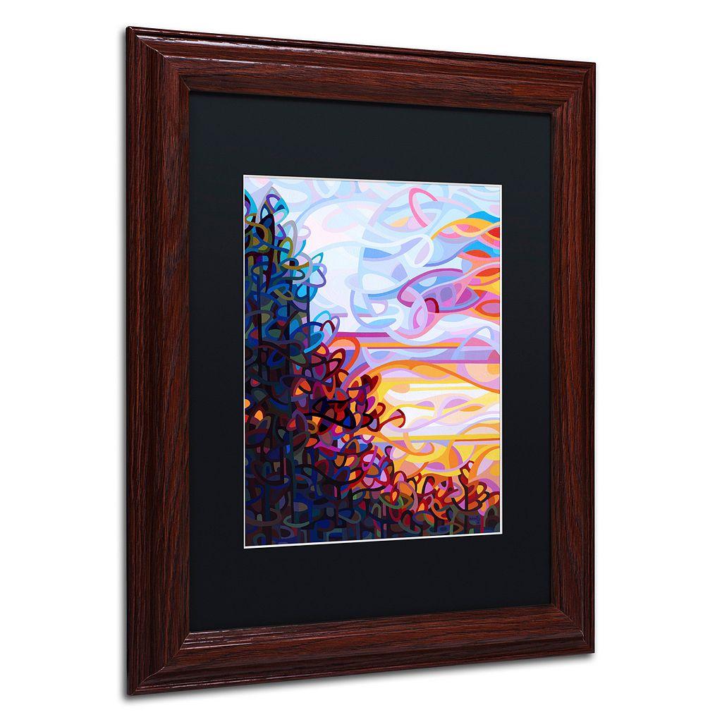 Trademark Fine Art Crescendo Wood Finish Framed Wall Art