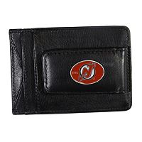 New Jersey Devils Black Leather Cash & Card Holder