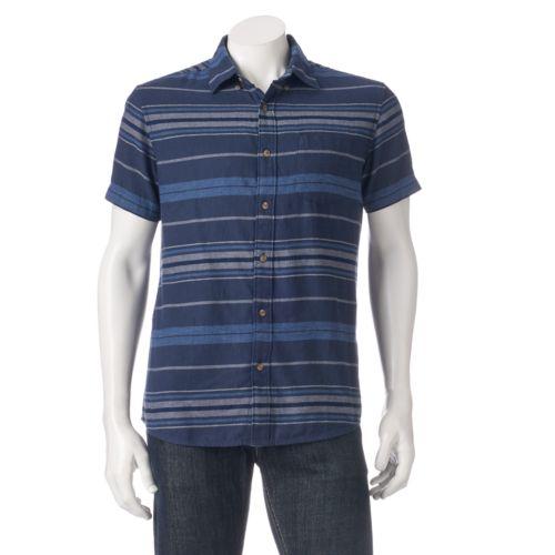 Men's Urban Pipeline Striped Twill Button-Down Shirt