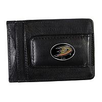 Anaheim Ducks Black Leather Cash & Card Holder