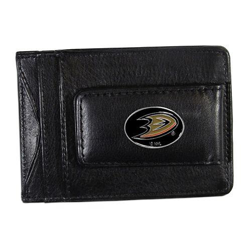 Anaheim Ducks Black Leather Cash & Card Holder