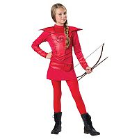 Kids Red Warrior Huntress Costume