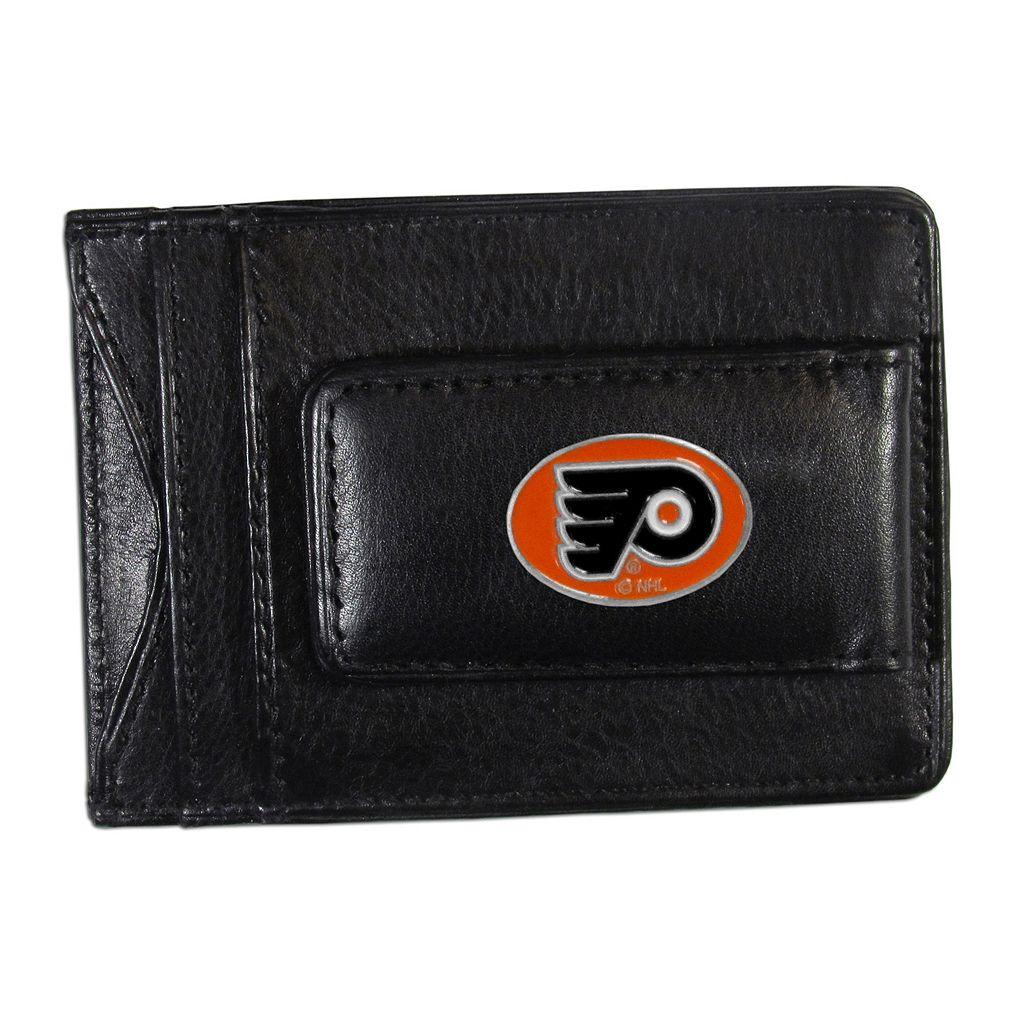 Philadelphia Flyers Black Leather Cash & Card Holder